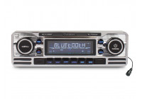 CD player, FM tuner with USB port, SD card reader, AUX-input and Bluetooth