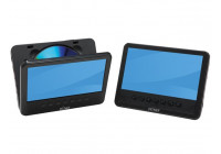 """MTW-756TWIN NB - PORTABLE DVD PLAYER WITH 7 """"LCD SCREEN + EXTRA SCREEN"""