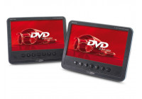"Portable 7 ""TFT LED DVD player + monitor set (2 screens)"