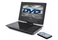 "Portable DVD player with 9 ""monitor and built-in battery"