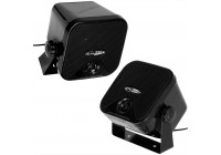 Two 2-way coaxial speaker boxes