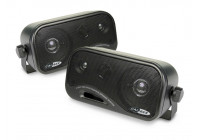 Two 3-way coaxial speaker boxes
