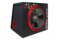 """Completely mounted basscube with 12 """"(30cm) Racing subwoofer and integrated amplified"""