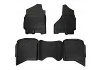 Rubber mats for Dodge RAM 1500/2500/3500 Crew Cab 2002+ 4-part