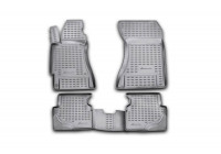 Rubber mats for Subaru Forester 2002-2008, 4 parts.