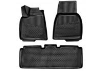 Rubber mats for Tesla Model S 2012- (EuWheel Rim) 3-part