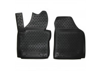 Rubber mats for VW Caddy truck 10/2007 to 2015, 2-part.