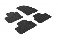 Rubber mats Volvo XC40 2018- (T profile 4-piece + Mount clips)