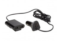Car charger with 2 USB Ports + 2 USB Ports for rear seat