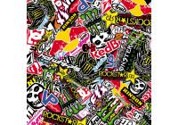 Stickerbomb Foil - Graffiti design 2 - Roll 60x200cm - self-adhesive