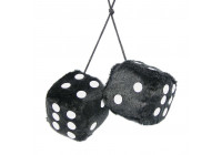 Mirror decoration dice black