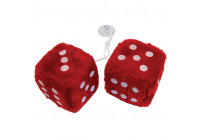 Mirror decoration dice red