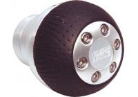 Gear knob aluminum / black round