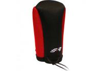 Simoni Racing Gear knob cover - Black / Red + SR Logo