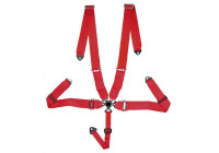 Racing Sport Belt 5-Point Red + Quick Release + E-mark (3-inch)