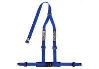 Sparco 3-Point Sport Belt - Blue - incl. Screw Mount (E-Mark)