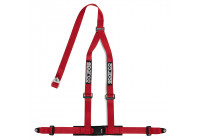 Sparco 3-Point Sport Belt - Red - incl. Screw Mount (E-Mark)
