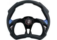 Simoni Racing Sport steering wheel X5 Poly Pelle 350mm - Black / Blue