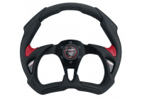 Simoni Racing Sport steering wheel X5 Poly Pelle 350mm - Black / Red