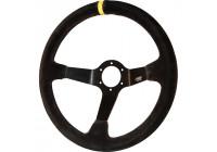 Simoni Racing Sports Steering Wheel Carrera 350mm - Black Suede (Deep Dish 6cm)