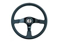 Simoni Racing Sports Steering Wheel Defender 380mm - Black Eco-Leather
