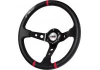 Simoni Racing Sports Steering Wheel Gravel 350mm - Black Eco-Leather (Deep Dish)