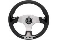 Sparco Universal Sport Steering Wheel 'P222' - Black / Aluminum - Diameter 345mm
