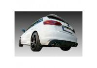 Bakre kjol (diffusor) Audi A3 8V Sportback 2012- (Avgasutspänning vänster + höger) (ABS)