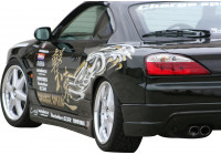 Charge hastighet bakskärmar Nissan 240SX S15 (FRP)
