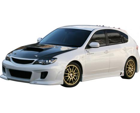 Charge hastighet Främre stötfångare Subaru Impreza GH2 / 3/6/7/8 9 / 2007- typ 1 (FRP) + Grill, bild 2