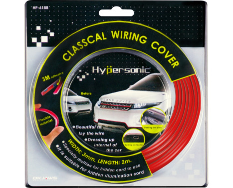Classic flexibel röd striping 0,3x500cm (med 3M tejp)