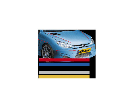 Universal lim striping Car Stripe Cool200 - Röd - 3 mm x 975cm, bild 2