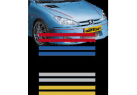 Universal lim striping Car Stripe Cool270 - Röd - 2 + 2 mm x 975cm