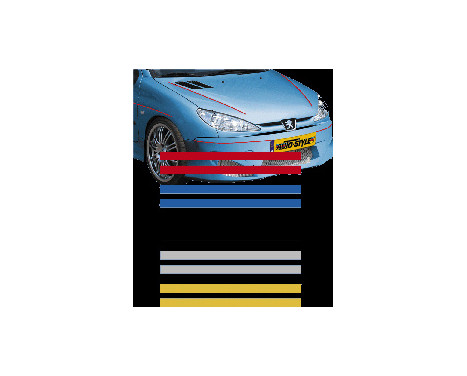 Universal lim striping Car Stripe Cool270 - Röd - 2 + 2 mm x 975cm, bild 2