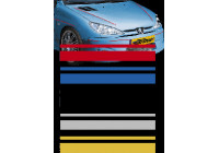 Universal lim striping Car Stripe Cool350 - Guld - 2 + 3 mm x 975cm