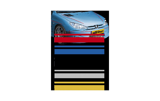 Universal lim striping Car Stripe Cool350 - Röd - 2 + 3 mm x 975cm