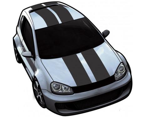 Viper Stripes matt svart - set � 2 stycken - l�ngd 500 cm / bredd 10 cm