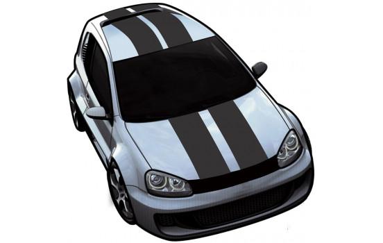 Viper Stripes matt svart - set á 2 stycken - längd 500 cm / bredd 10 cm