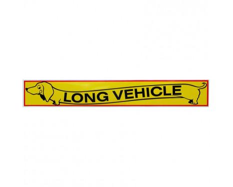 Bil dekal klisterm�rke Long Vehicle - 10,5x67,5cm