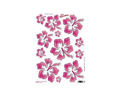 Blommor rosa sticker (34x24cm)
