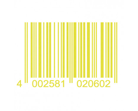 Foliatec Cardesign klistermärke - Code - neongul - 37x24cm