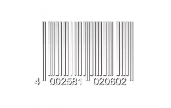 Foliatec Cardesign klistermärke - kod - vit matta - 37x24cm