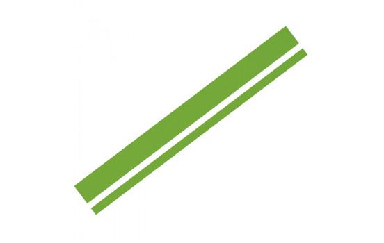 Foliatec Cardesign klistermärke - Lines - neon grön - 150x5,8cm