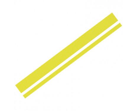 Foliatec Cardesign klistermärke - Lines - neongul - 150x5,8cm