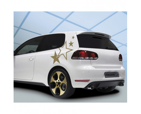 Foliatec Cardesign klistermärken - Stjärnor - guld - Bredd 63cm x höjd 39cm, bild 2
