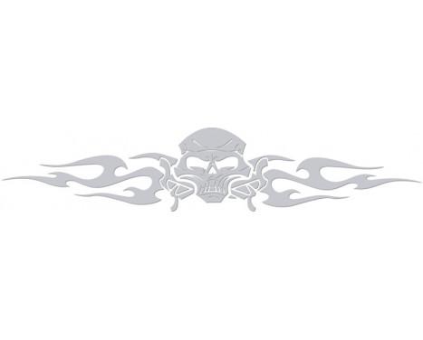 Fönsterklistermärke stam- skalle - silver - 99x20cm