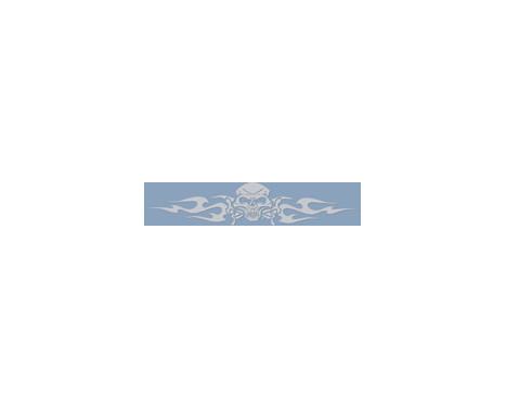 Fönsterklistermärke stam- skalle - silver - 99x20cm, bild 2