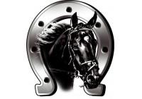 Häst + sticker Hästsko - 6x7cm