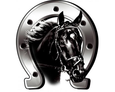 Häst + sticker Hästsko - 6x7cm, bild 2