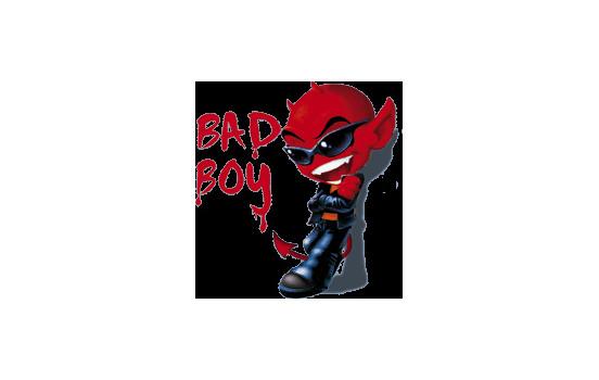 Klistermärke Bad Boy - 12x11cm